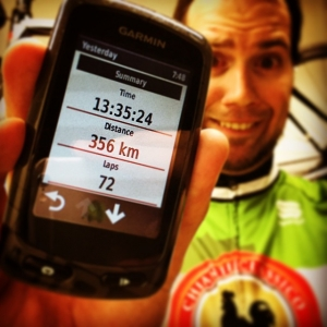 Do you know what is fun? Cycling 356 km a day! 6400 calories burned! New personals best