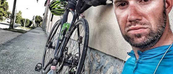 Simon Infanger am Transcontinental Race 2017